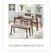 COS-ABBE DINING SET (1+2+1)